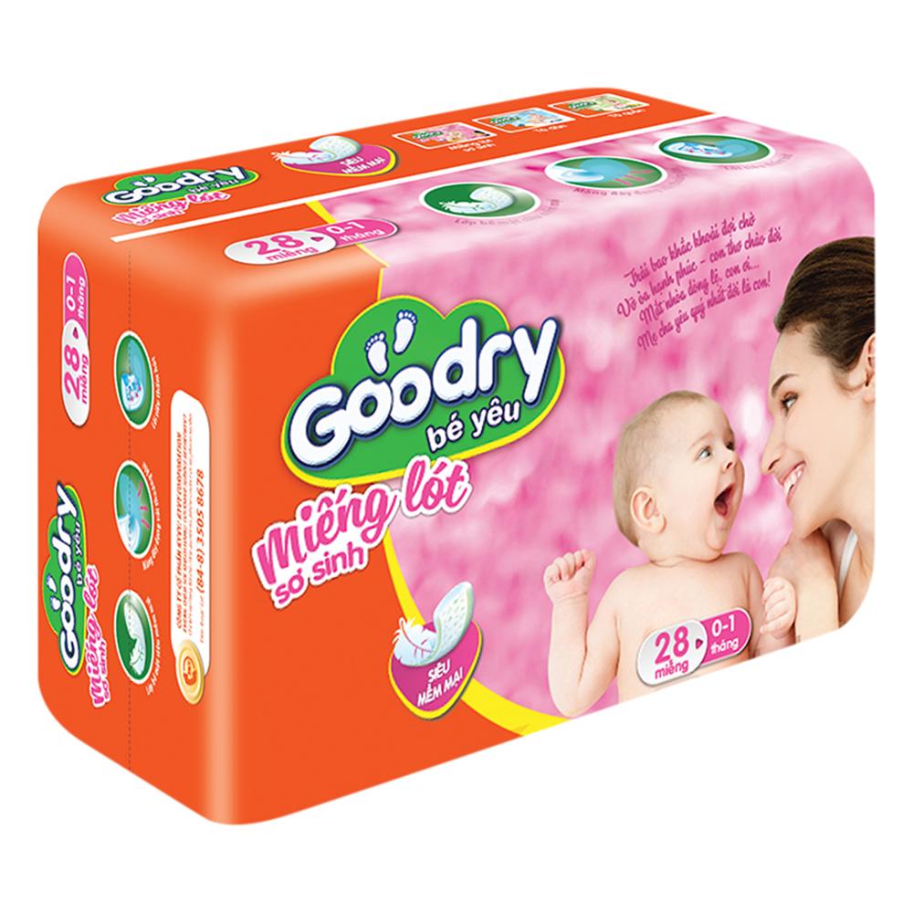 Miếng Lót Sơ Sinh Goodry (28 Miếng)