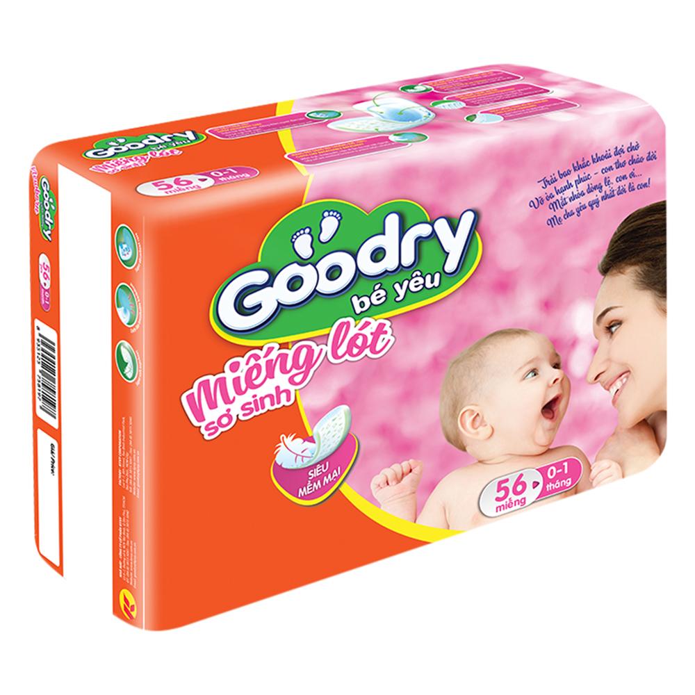Miếng Lót Sơ Sinh Goodry 1 (56 Miếng)
