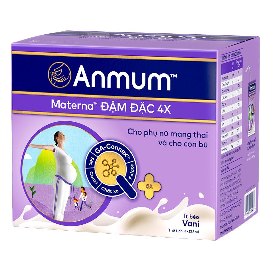 CRM - Hộp Sữa Nước Anmum Materna Vanilla (4 x 125 ml)