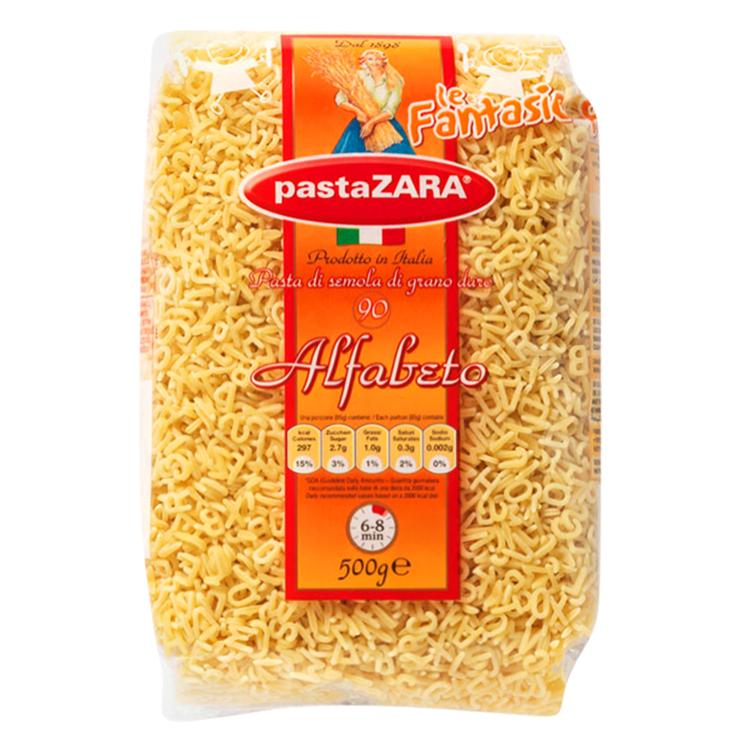 Nui Ý Alphabet 90 Pasta Zara Gói 500g - 9395855 , 8004350130907 , 62_307014 , 56000 , Nui-Y-Alphabet-90-Pasta-Zara-Goi-500g-62_307014 , tiki.vn , Nui Ý Alphabet 90 Pasta Zara Gói 500g