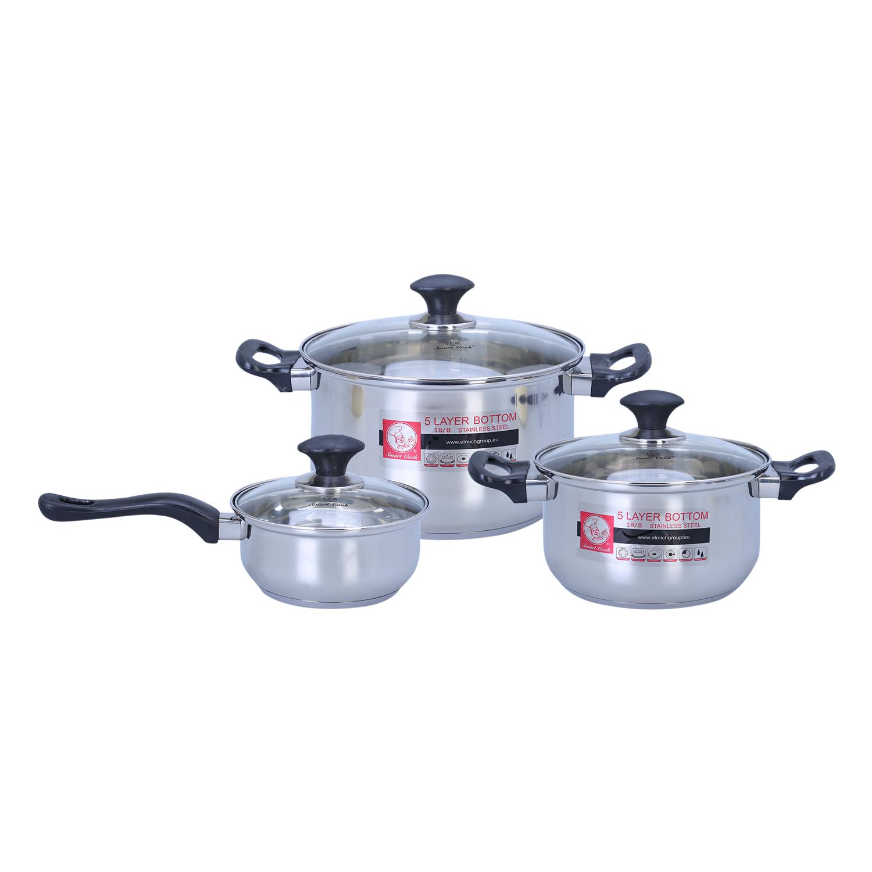 Bộ 3 Nồi Inox Smartcook SM1496 (16-20-24cm) - 2351496