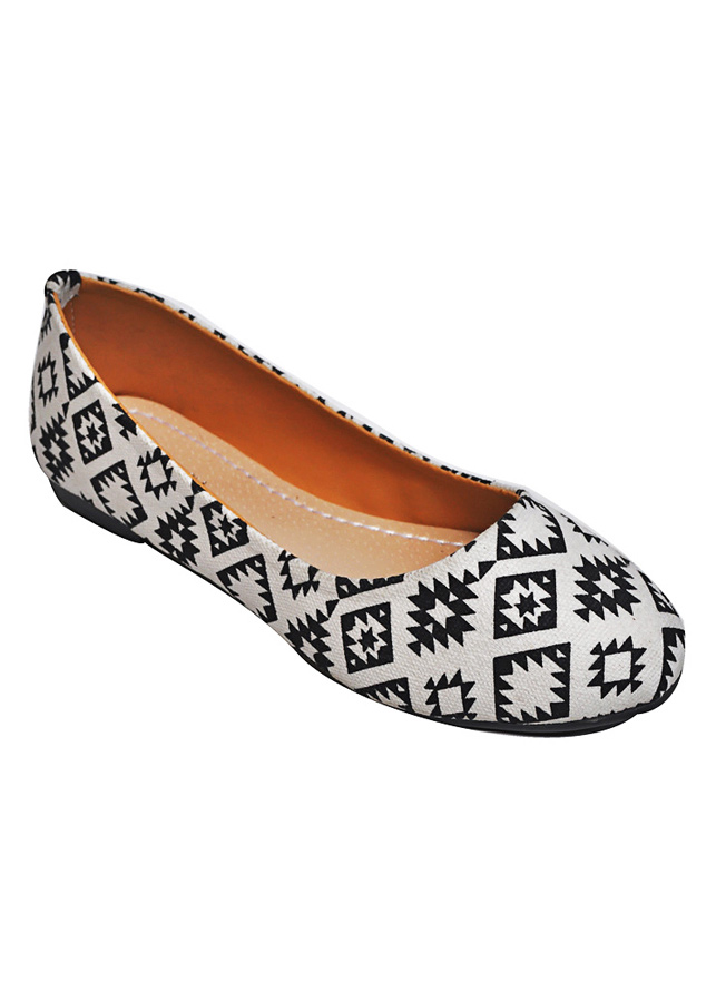 Giày Búp Bê Họa Tiết Hình Thoi Me Girl 92102