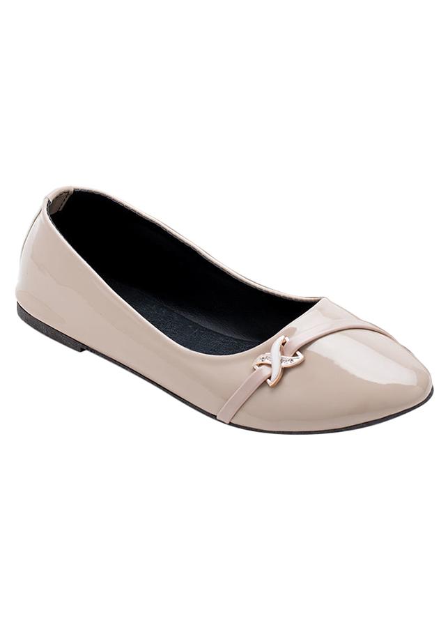 Giày Búp Bê Nơ Me Girl 92191 - Kem