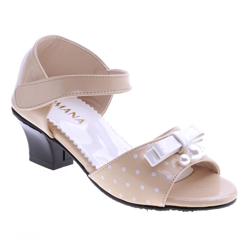 Giày Búp Bê Gót 4cm Bé Gái AZ79 BG001207A9 - Kem