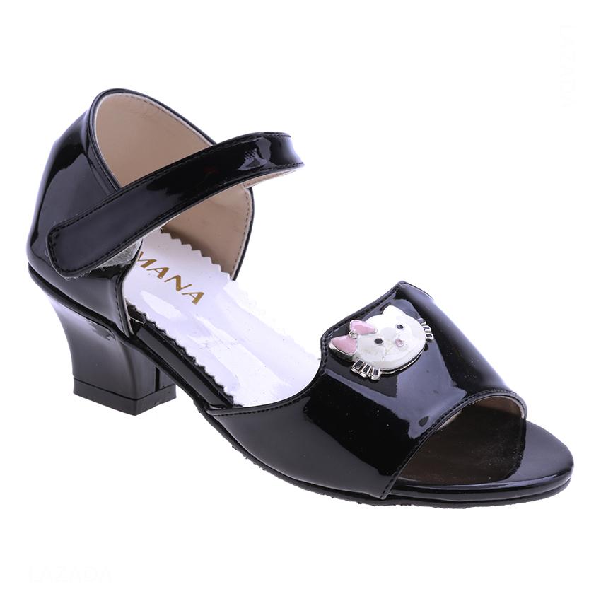 Giày Búp Bê Gót 4cm Bé Gái AZ79 BG001205A5 - Đen