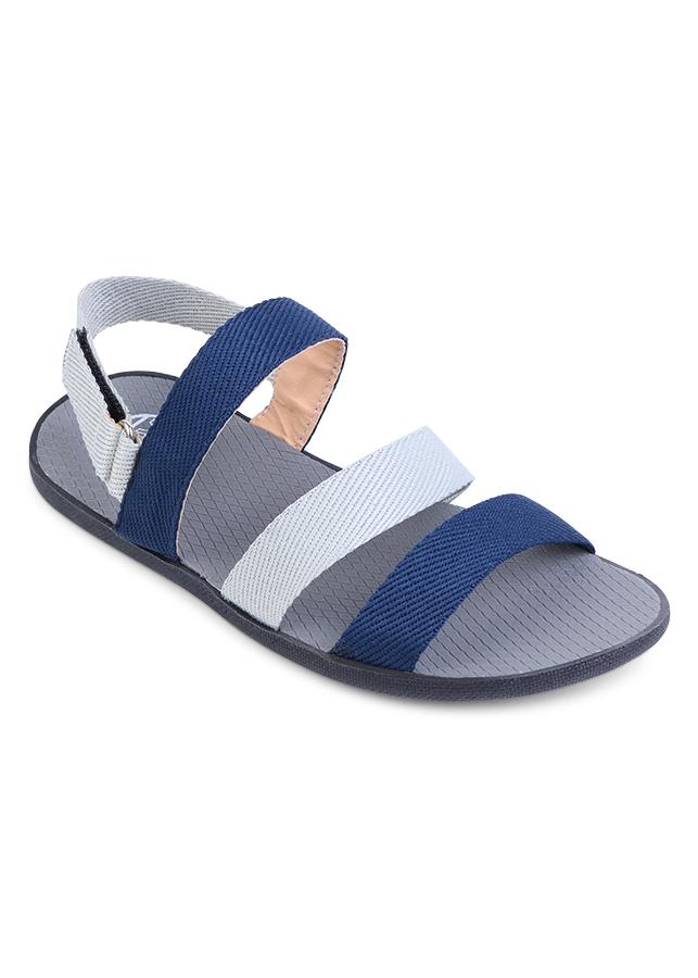 Giày Sandal Nam Quai Ngang Evest A254 - Xanh Dương Phối Trắng