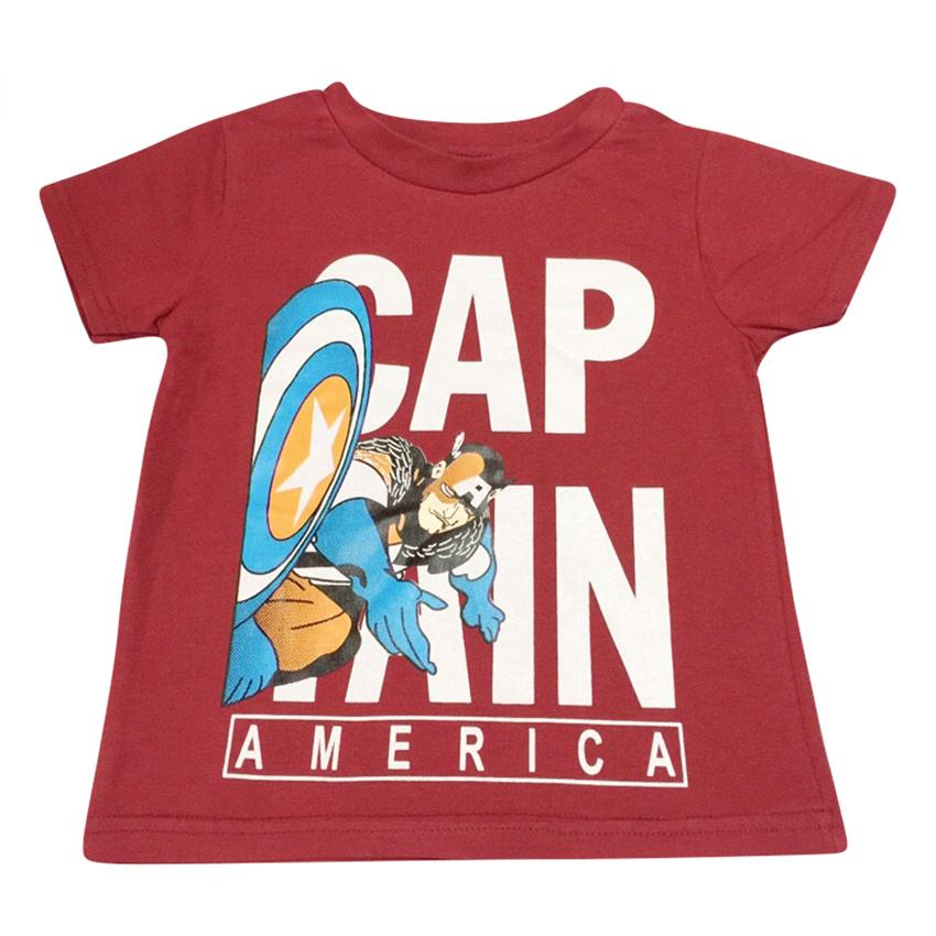 Áo Thun Bé Trai Captain America Nanio AK012 – Đỏ