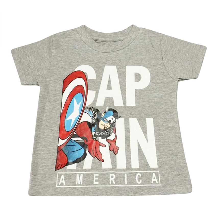 Áo Thun Bé Trai Captain America Nanio AK012 – Xám