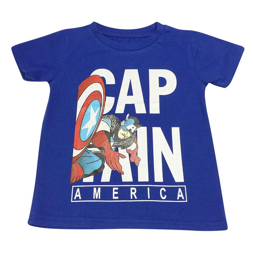 Áo Thun Bé Trai Captain America Nanio AK012 – Xanh Đậm