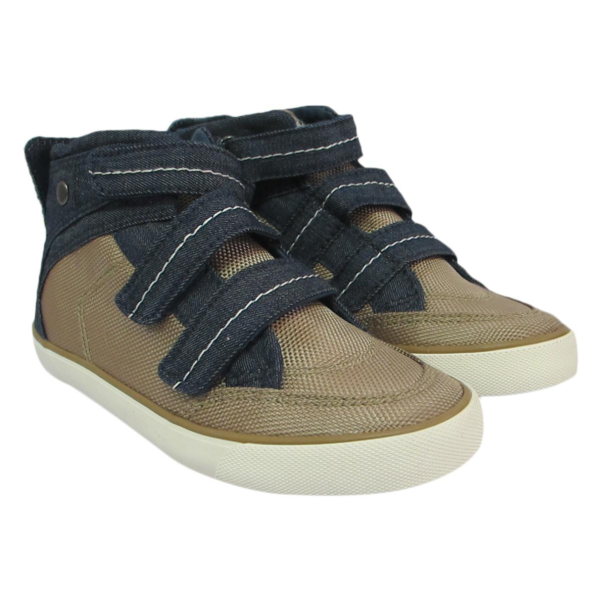 Giày Sneaker Cổ Cao Bé Trai DA B1505 - Vàng Phối Xanh