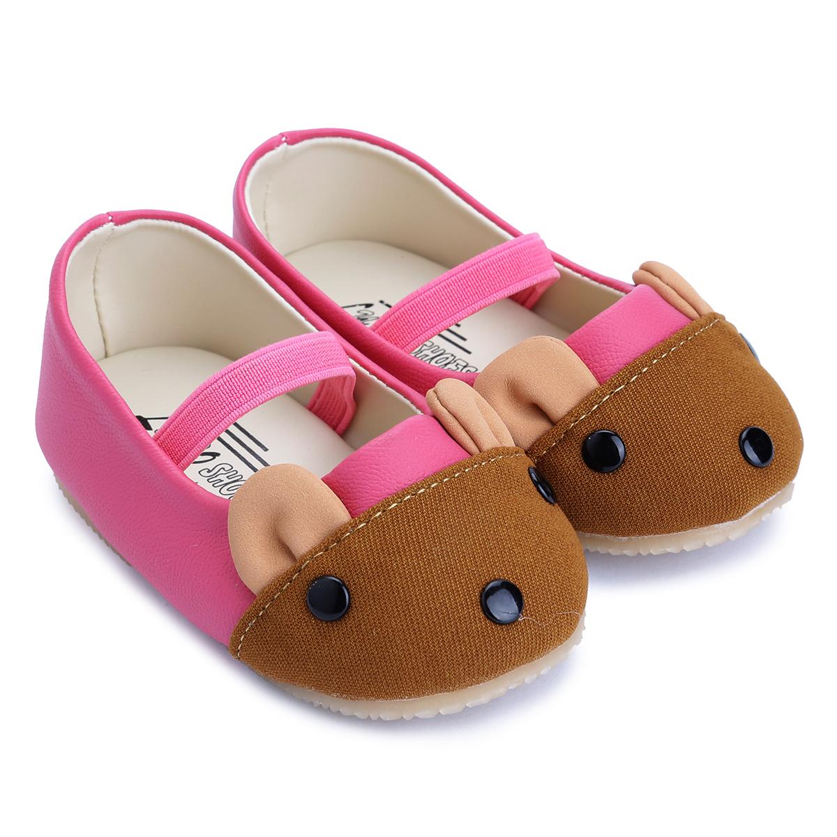Giày Búp Bê Bé Gái Mouse Lubo BBMHS - Hồng Sen