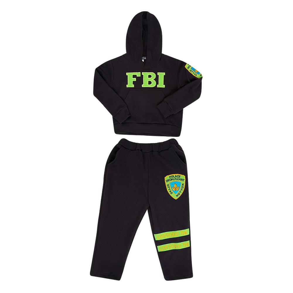 Bộ Đồ Tay Dài Có Nón FBI Cirino BD_FBI_DEN - Đen