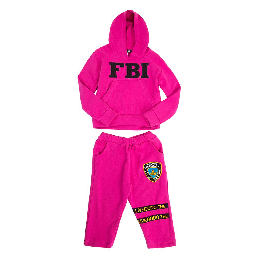 Bộ Đồ Tay Dài Có Nón FBI Cirino BD_FBI_H – Hồng