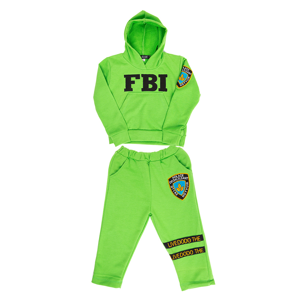 Bộ Đồ Tay Dài Có Nón FBI Cirino BD_FBI_X – Xanh Lá