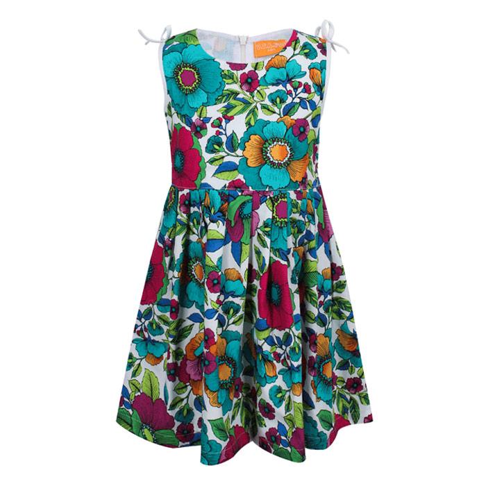 Đầm Sát Nách Họa Tiết Hoa VTA Kids BG60403HX – Xanh
