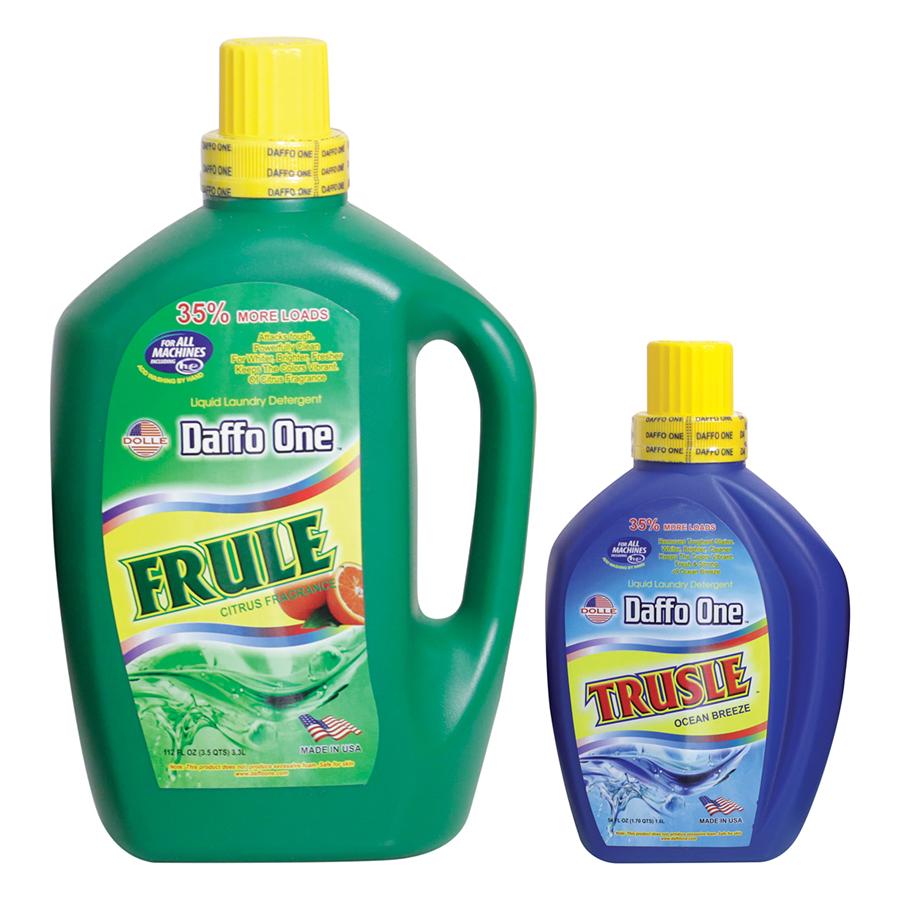 Bộ Nước Giặt Daffo One Frule Hương Cam Rừng (3.3L / Chai) + Nước Giặt Daffo One Trusle Hương Gió Biển (1.6L / Chai)