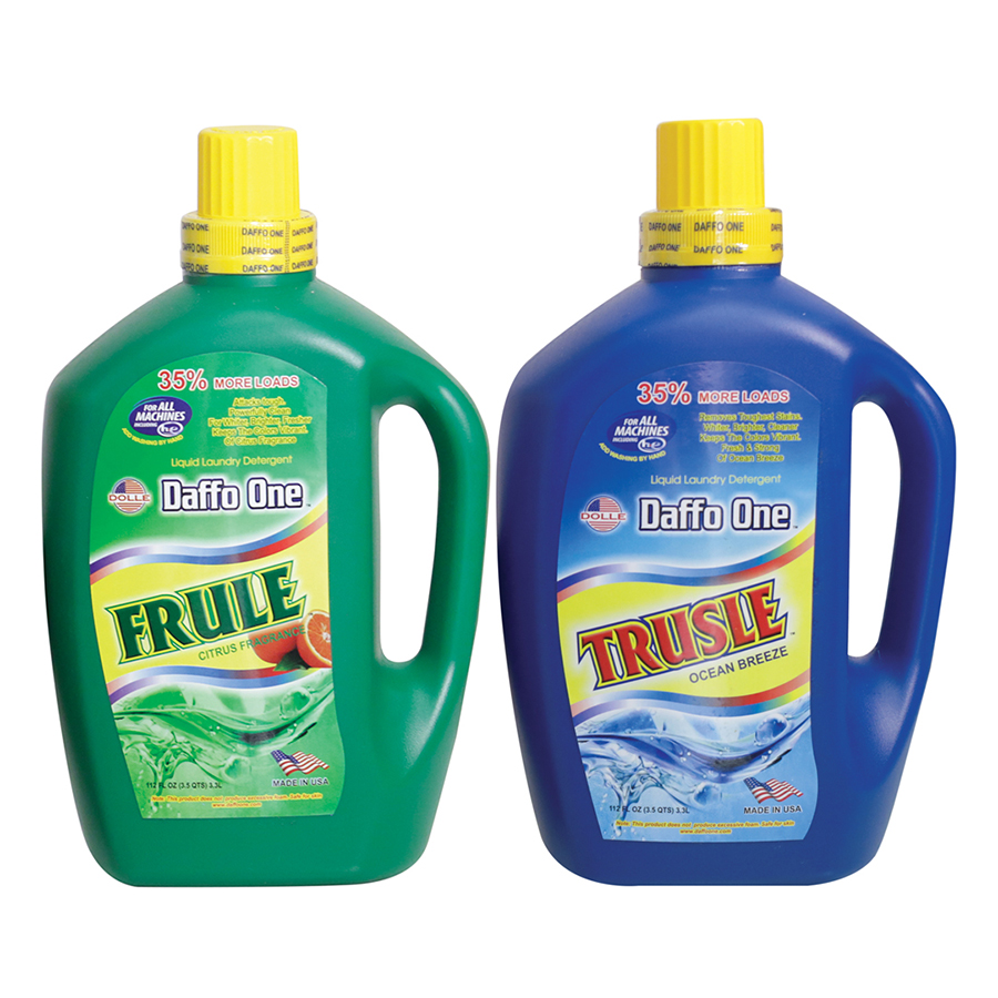 Bộ Nước Giặt Daffo One Frule Hương Cam Rừng (3.3L / Chai) + Nước Giặt Daffo One Trusle Hương Gió Biển (3.3L / Chai)
