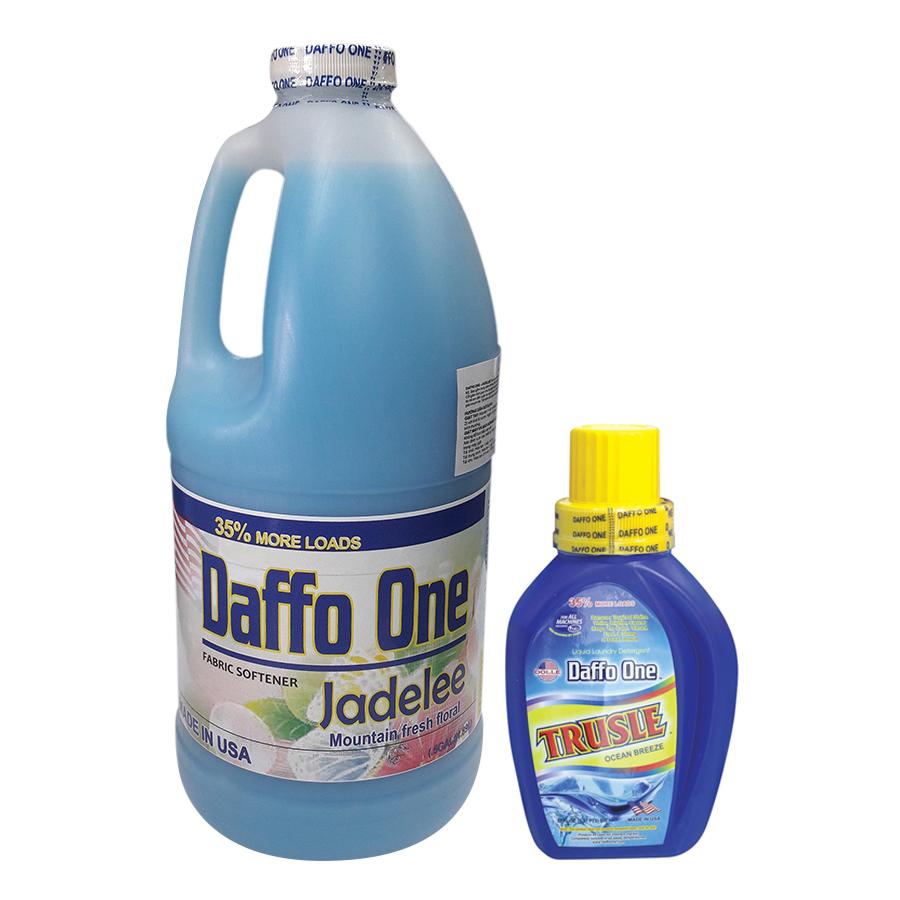 Bộ Nước Giặt Daffo One Trusle Hương Gió Biển (650ml / Chai) + Nước Xả Vải Daffo One Jadelee Hương Hoa Rừng (1.9L / Chai)