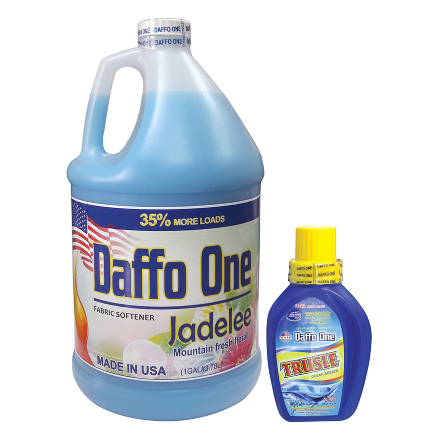 Bộ Nước Giặt Daffo One Trusle Hương Gió Biển (650ml / Chai) + Nước Xả Vải Daffo One Jadelee Hương Hoa Rừng (3.8L / Chai)