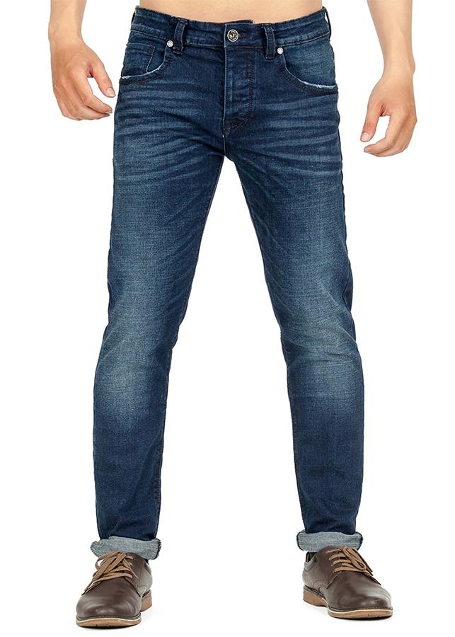 Quần Jeans Nam Skinny Wash Sáng Râu Mèo 189 A91 JEANS MSKBS189ME - Xanh