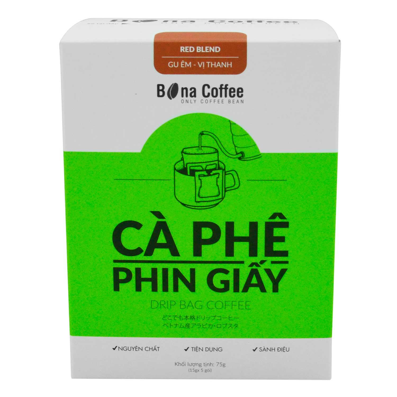 Cà Phê Phin Giấy Bona Coffee - Red Blend 75g