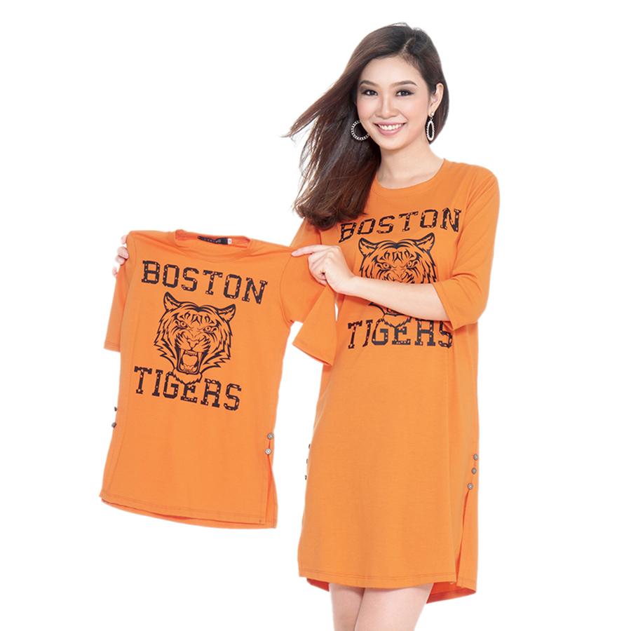 Combo Đầm Suông Mẹ Bé Cirino CB_TIGER_C In Họa Tiết Tiger – Cam