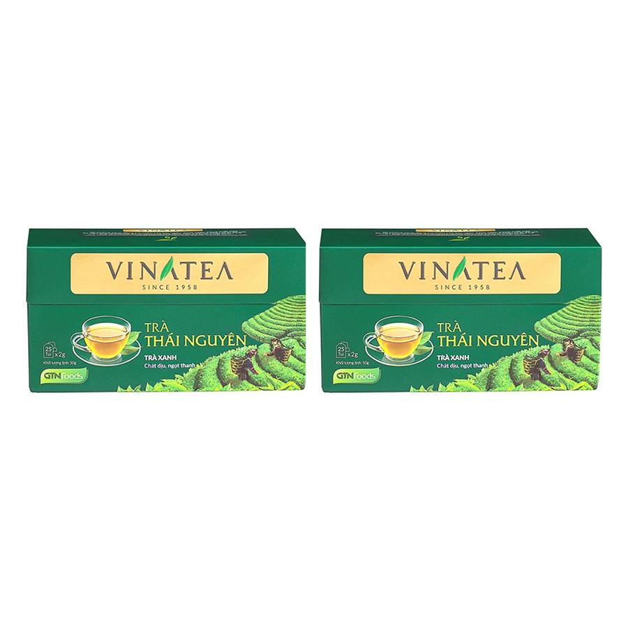 Combo 2 Trà Túi Lọc Vinatea Thái Nguyên (50g / Hộp)