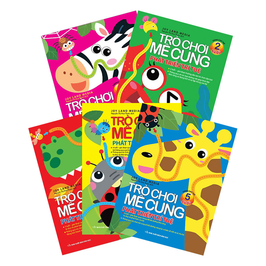 Combo Sách Trò Chơi Mê Cung Phát Triển Trí Tuệ Dành Cho Trẻ Từ 2 Đến 6 Tuổi (Tặng Kèm 3 cuốn Tập Học Sinh)