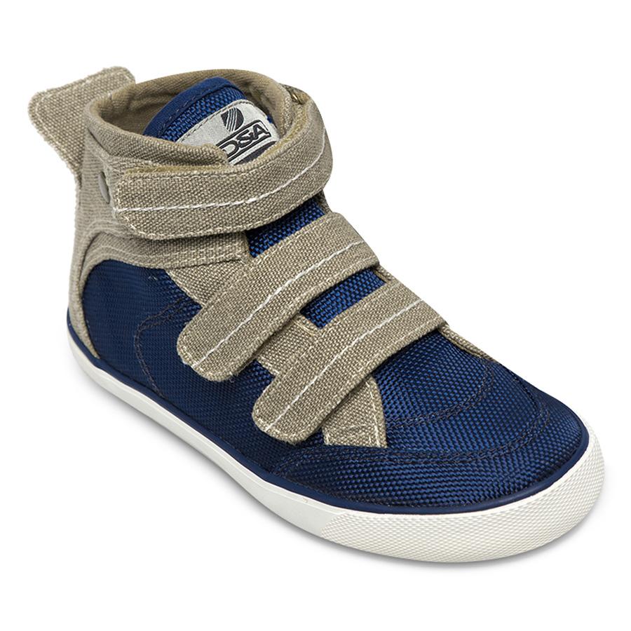 Giày Sneaker Cổ Cao Bé Trai DA B1505 - Ghi Phối Xanh
