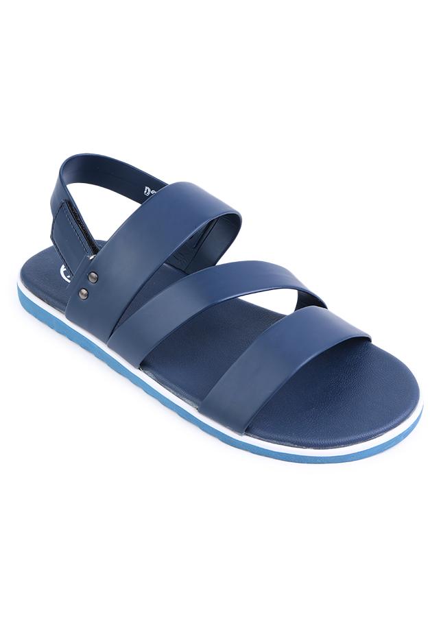 Giày Sandal Nam 3 Quai Ngang Evest D36 - Xanh Đậm