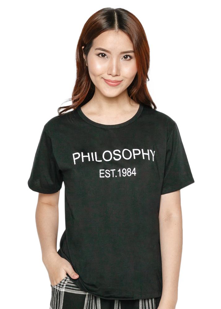 Áo Thun Nữ TD Form Rộng Philosophy D86 - Đen