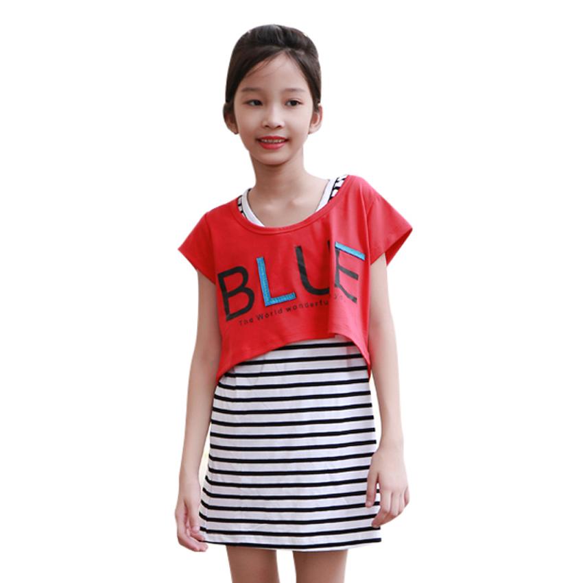Set Đầm Và Áo Mullet Blue Bé Gái Cirino DB_BLUE_DO - Đỏ