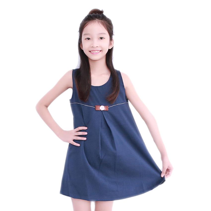 Đầm Suông Chữ A Đính Nơ Bé Gái Cirino DB_SA_XA – Xanh Đen