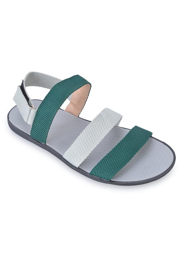 Giày Sandal Nam Quai Ngang Evest A250 - Xanh Lá Phối Trắng
