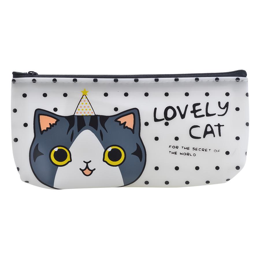 Bóp Viết Lovely Cat - Trắng