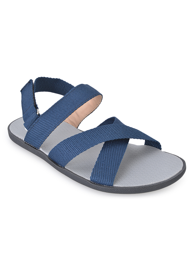 Giày Sandal Nam Quai Chéo Evest A248 - Xanh Dương