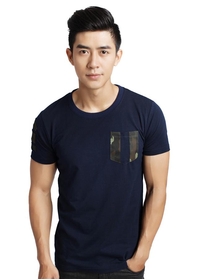 Áo Thun Nam Cổ Tròn F2 Fashion F2-TSM-31 - Xanh