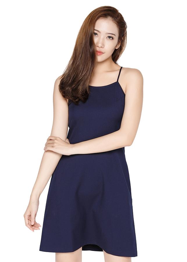 Đầm Yếm Hai Dây FAD FAD158007D - Xanh Đậm