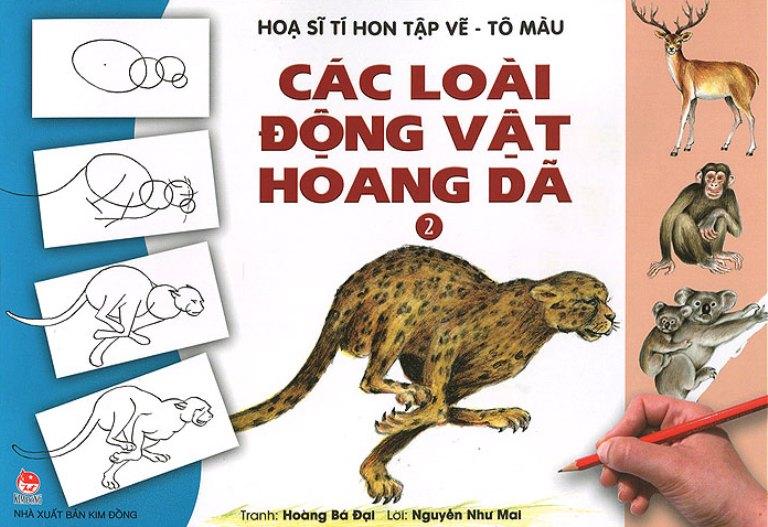 Họa Sĩ Tí Hon Tập Vẽ - Tô Màu - Các Loài Động Vật Hoang Dã (Tái Bản 2015)