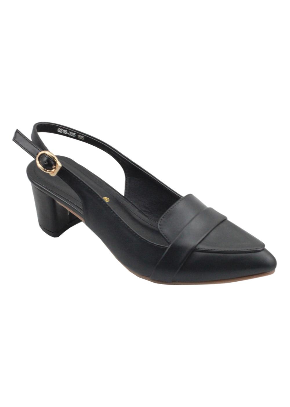 Giày Sandal Cao Gót 5cm G Alanti GS16-385-195-D - Đen