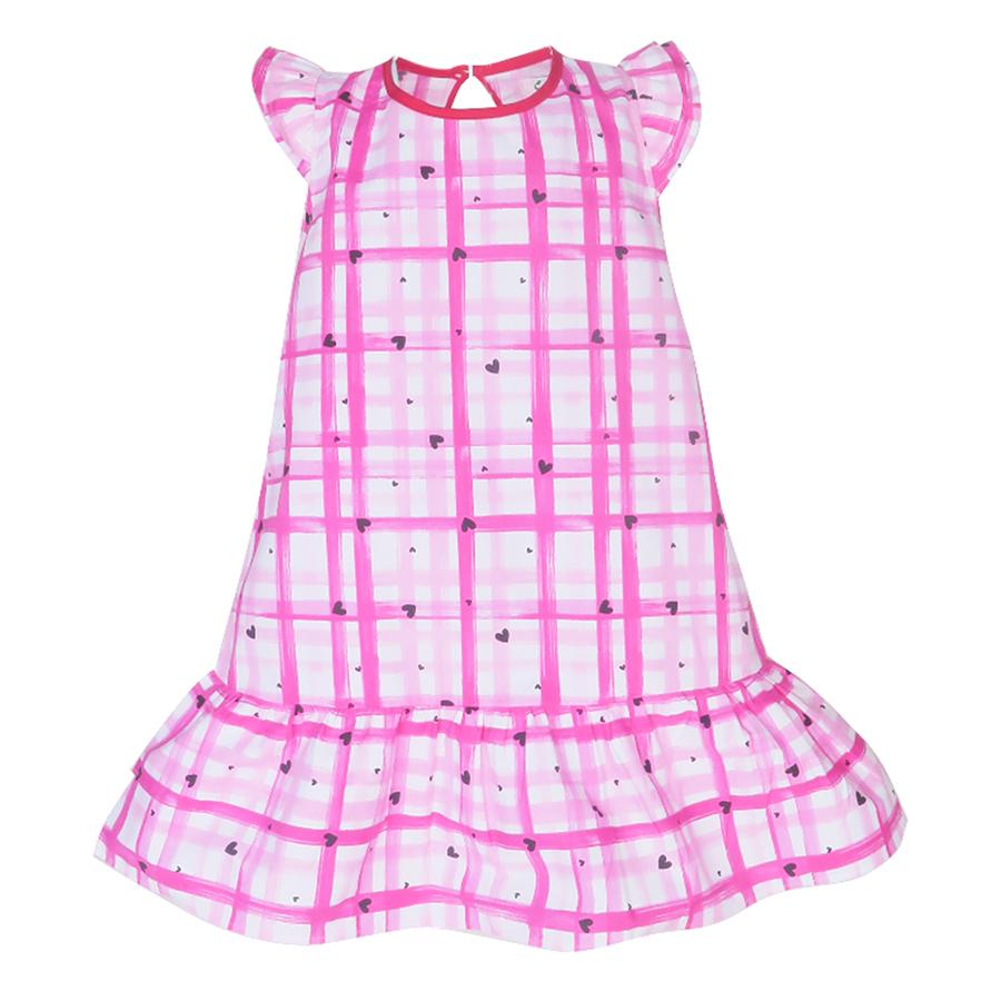Đầm Đuôi Cá Sọc Đỏ Nơ Lưng Cuckeo HC 584 (1 - 6 Tuổi)