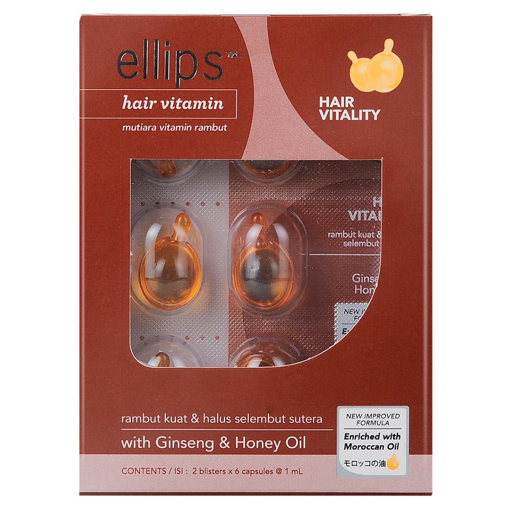 Serum Vitamin Dưỡng Tóc Sức Sống Mới Ellips Hair Vitality (2 Vỉ x 6 Viên ) - 100707092