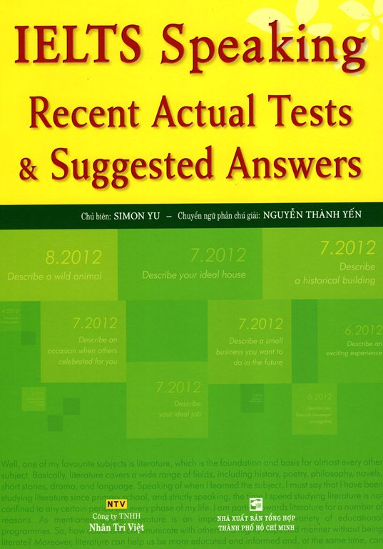 IELTS Speaking - Recent Actual Tests  Suggested Answers