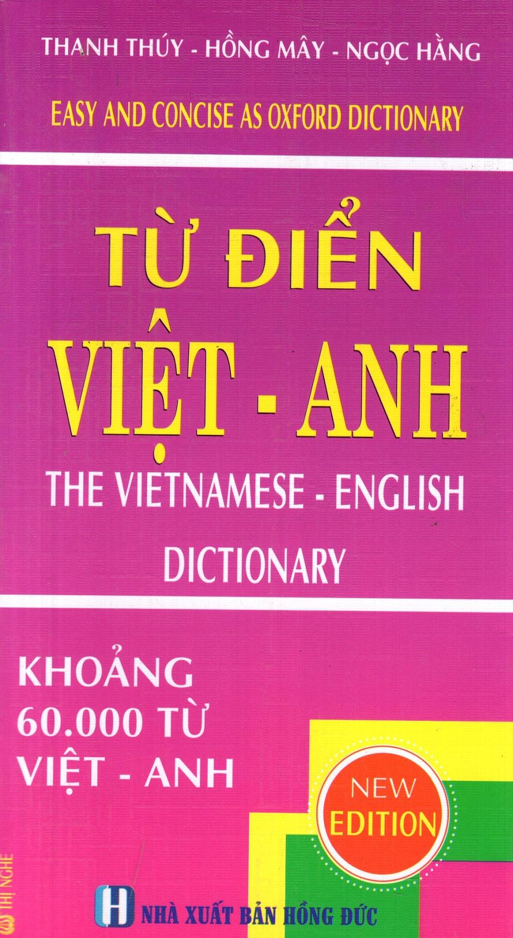 Từ Điển Việt - Anh (Khoảng 60.000 Từ)