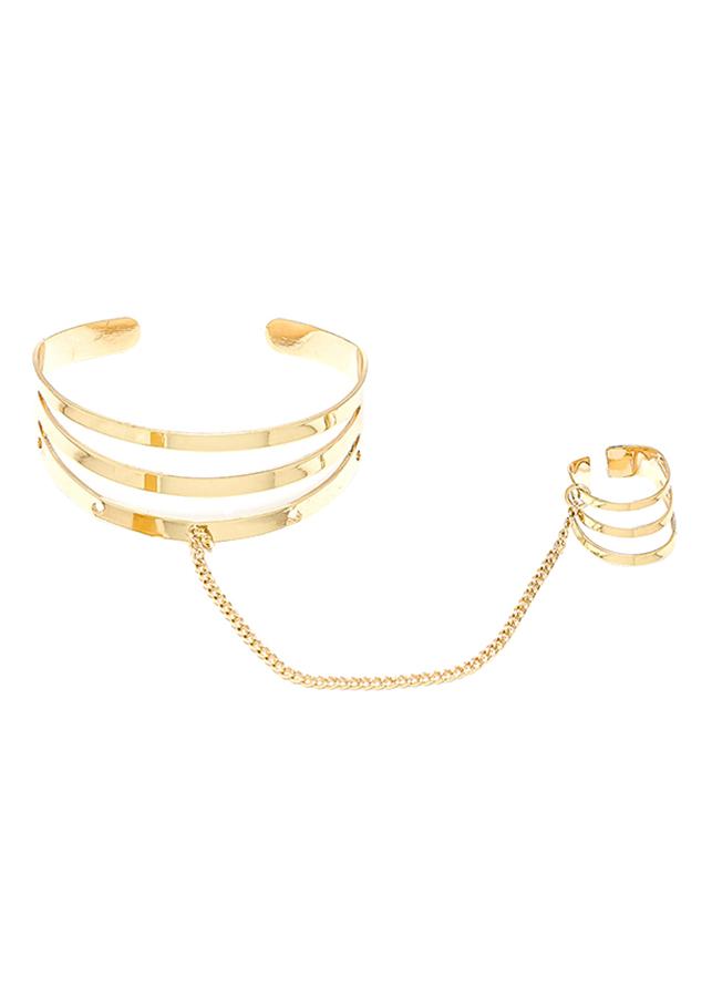 Vòng Tay Kèm Nhẫn Elizabeth Shop VT-4203-149 - Vàng Ánh Kim