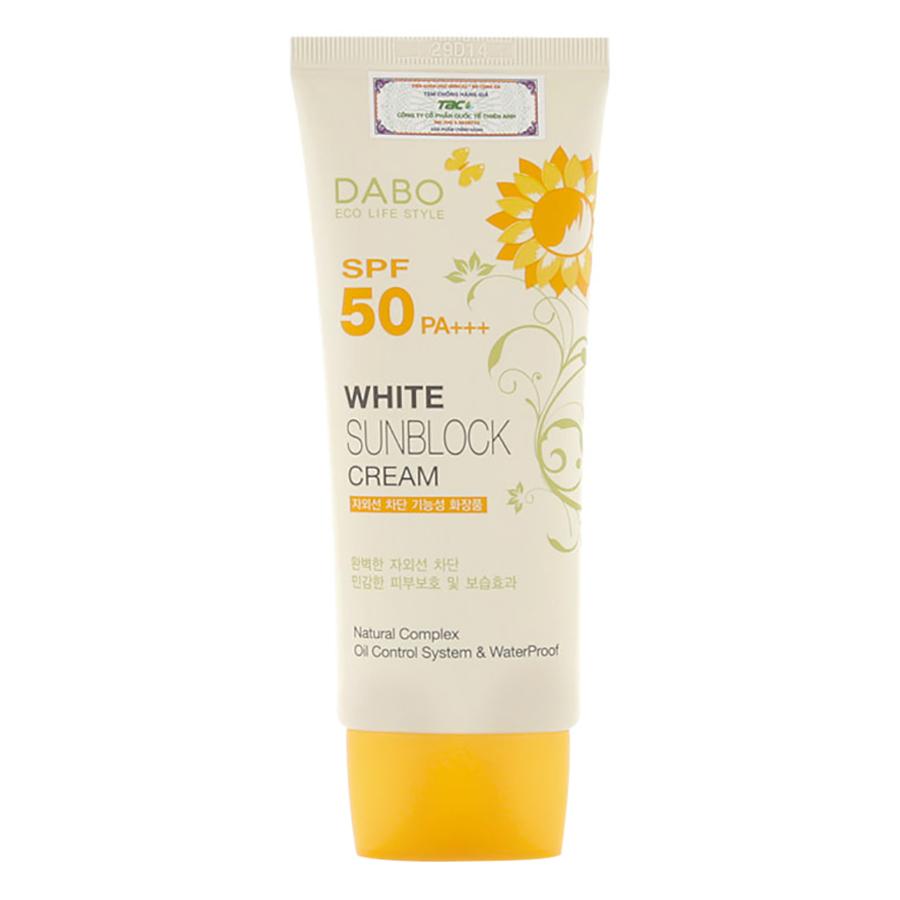 Kem Chống Nắng Dưỡng Da Dabo White Sunblock Cream SPF 50 PA+++ (70ml) - 9415183 , 8381439954426 , 62_13936297 , 130000 , Kem-Chong-Nang-Duong-Da-Dabo-White-Sunblock-Cream-SPF-50-PA-70ml-62_13936297 , tiki.vn , Kem Chống Nắng Dưỡng Da Dabo White Sunblock Cream SPF 50 PA+++ (70ml)