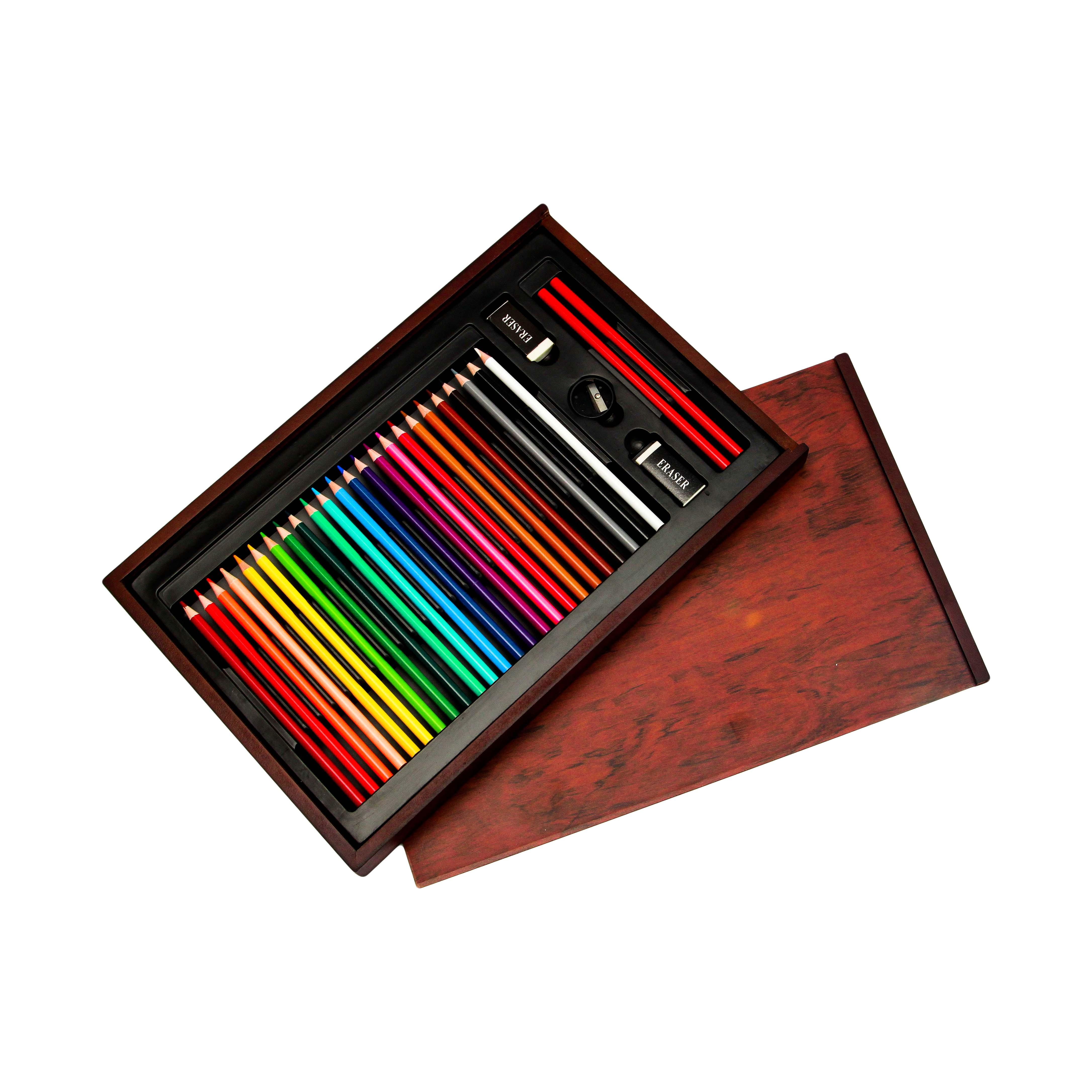 Bút Màu Hộp Gỗ Colormate MS-30W