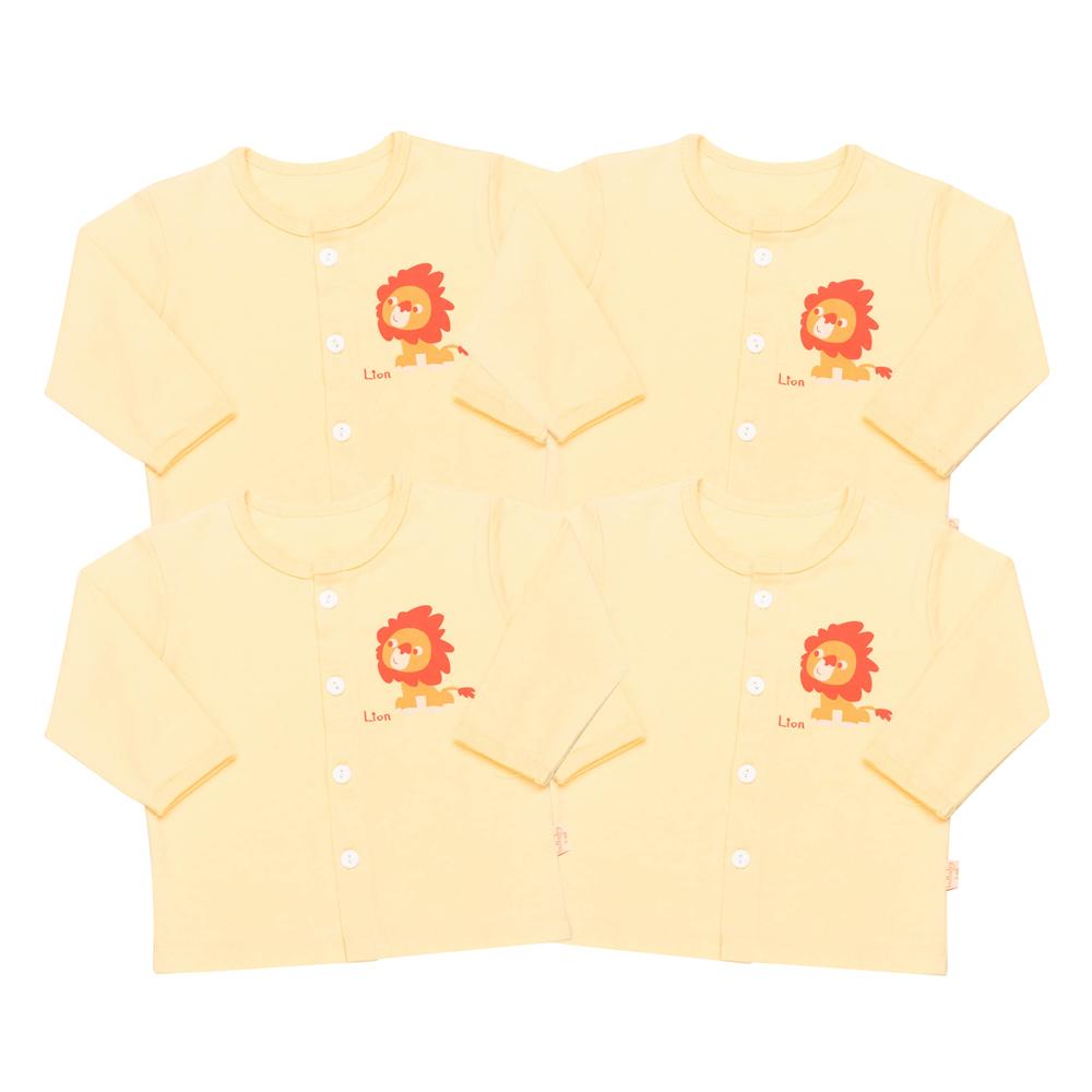 Combo 4 Áo Tay Dài Cài Giữa Cho Bé LullabyBaby NH02-11-2-V - Vàng