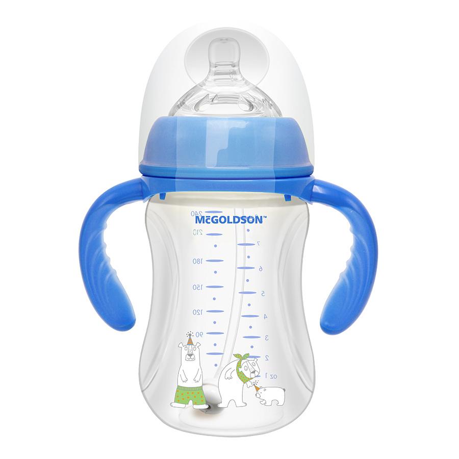 Bình Sữa PP Cổ Rộng McGOLDSON PP -CR240 (240ml) - Màu Ngẫu Nhiên