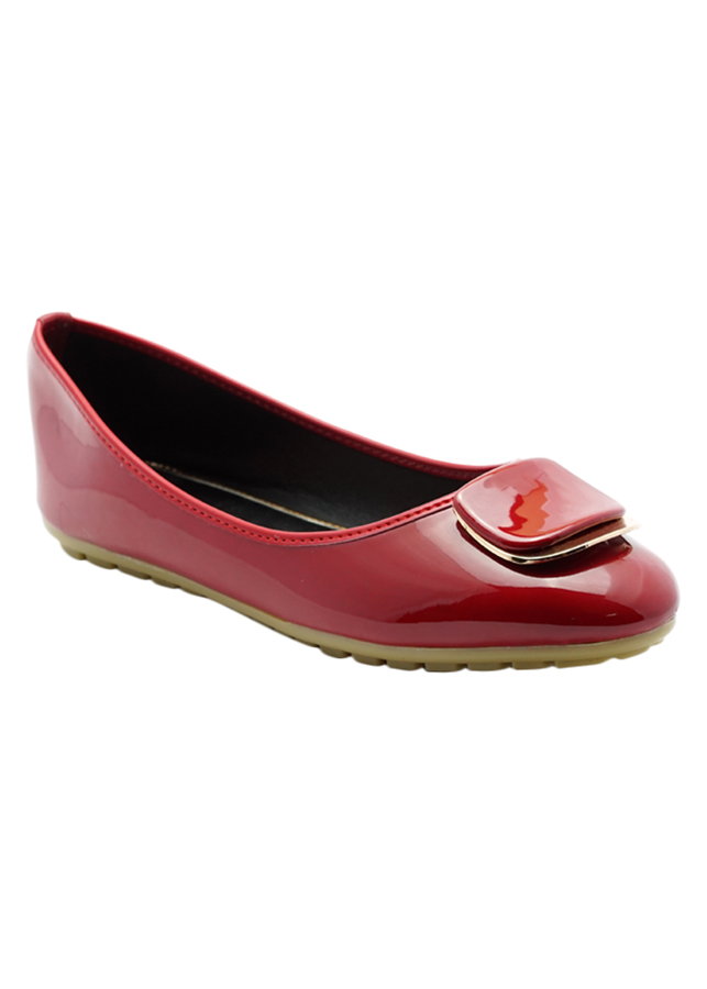 Giày Búp Bê Mũi Tròn Princess PRIN36O - Đỏ